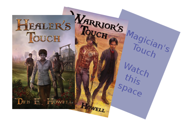 Book Covers for Healer's Touch and Warrior's Touch and a space-saver for Magician's Touch