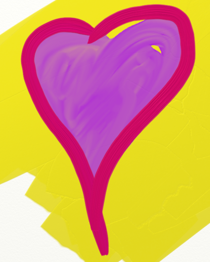 red outline on a yellow background.